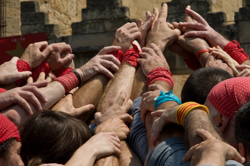 Grupo de personas unidas