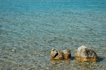 Isolated Rocks on the Water