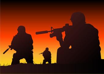 Foto op Canvas Militair Soldiers