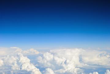 Spoed Fotobehang Hemel Aerial sky and clouds background