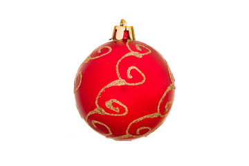Christmas decoration isolated on the tree. New year. Xmas.
