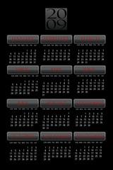 Calendar Black
