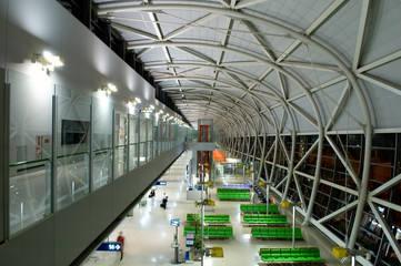 The design architecture at the airport in prespective view
