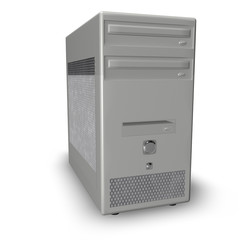 Computer Case Isolated