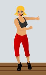 Trainer of aerobics