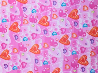 Heart shaped paper background