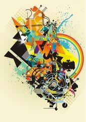 abstract tech & grunge design