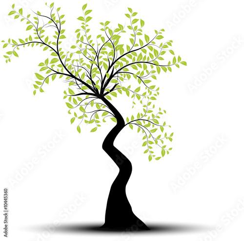 vecteur s rie arbre vectoriel noir et vert sur fond blanc fichier vectoriel libre de droits. Black Bedroom Furniture Sets. Home Design Ideas