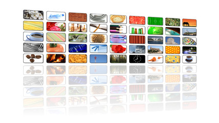 multimedia lcd television background
