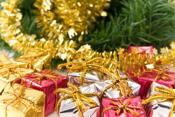 Christmas presents under Christmas-tree