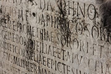 old medieval latin catholic inscription  .