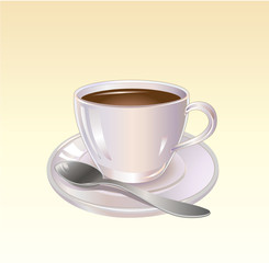 Detailed Coffee or Tea cup graphic
