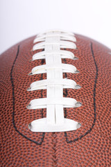 american football ball close up