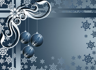 Silver Christmas frame