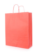 Red shopping bag isolated on a white background