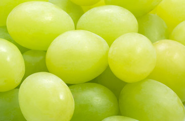 A close-up of grapes, taken with a macro lens.