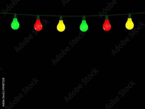 guirlande lumineuse color e sur fond noir photo libre de droits sur la banque d 39 images fotolia. Black Bedroom Furniture Sets. Home Design Ideas