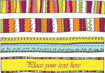 4 horizontale Banner/Rahmen im Vektorformat