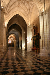 Beautiful interior of Palencia cathedral in Spain