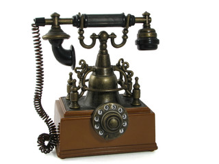 Telephone. Old phone.
