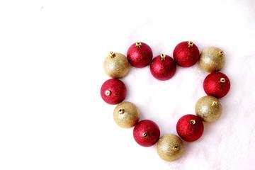 Herz Weihnachtskugeln Liebe