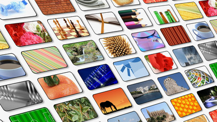 multi pictures television background