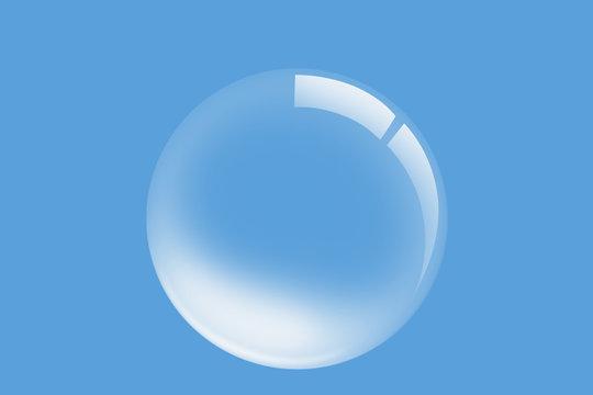 einzelne Wasserblase