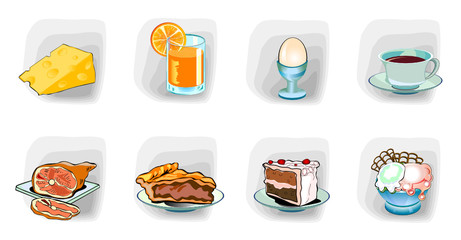 Color icons, Meal