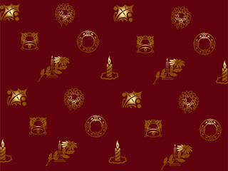Christmas wallpaper with holiday elements, set 2