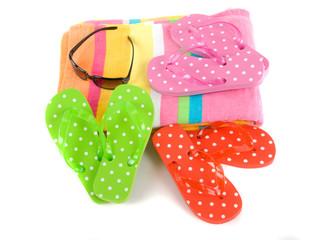 Colorful summer beachwear