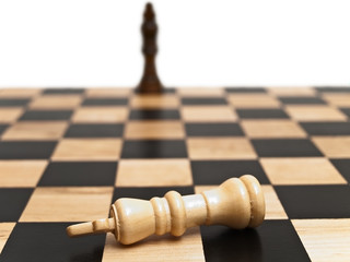 Photo of the chess-board with checkmate