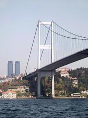 Details of the Bosphorus Bridge - Istanbul - Turkey