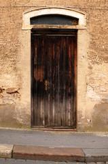 alte braune Tür