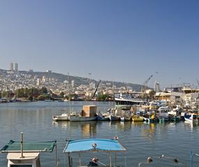 little fishing boats Hakishon harbor-marina
