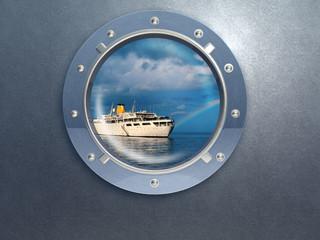 porthole and ship