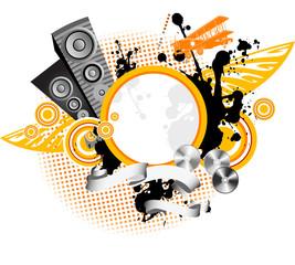 Music  background, illustration.