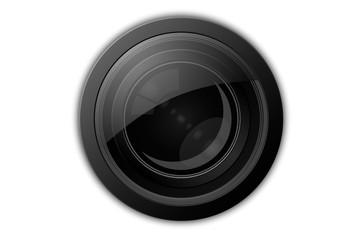 Illustrazione di lente di obiettivo camera.
