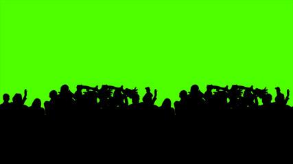 3d Illustration of a Crowd at a Rock Concert