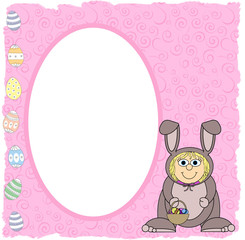 Easter Bunny Fancydress Frame - Isolated Clipping Path