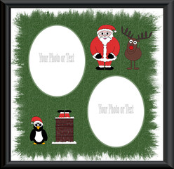 Christmas Characters Border Framework - Isolated Clipping