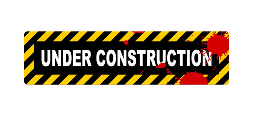 An illustration of an under construction sign