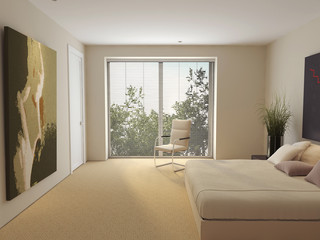 interior, bed, gobelin