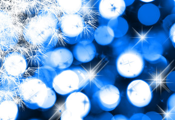 Abstract winter  background of holiday lights
