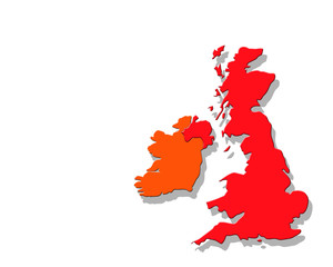 UK map on white