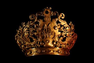 Crown on black