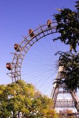 The ferris wheel at the prater in Vienna, Austria