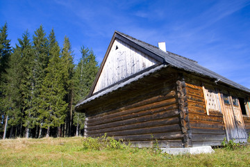 old wooden house in mountain