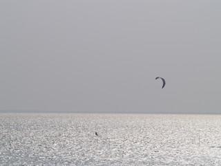 Kitesurfer in der Norsee