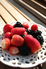 blackberry and stawberry
