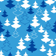 Christmas tree seamless pattern